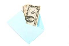 Geld in envelop, gift. Royalty-vrije Stock Foto's