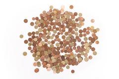 Geld - Euro muntstukken Stock Afbeeldingen