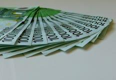Geld, euro, schip, contant geld, rekeningen Stock Afbeelding