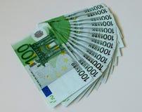 Geld, euro, schip, contant geld, rekeningen Stock Foto