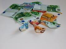 Geld, euro, schip, contant geld, rekeningen Royalty-vrije Stock Foto's