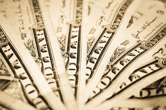 Geld fächerförmig Lizenzfreies Stockbild