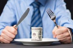 Geld für Abendessen Lizenzfreie Stockbilder