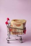 Geld für den Einkauf Lizenzfreie Stockbilder