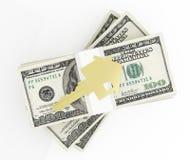 Geld für Haus Lizenzfreies Stockfoto