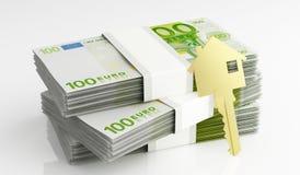 Geld für Haus Lizenzfreie Stockfotografie