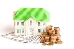 Geld für Haus Stockfotos