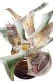 Geld für Störung Stockfoto