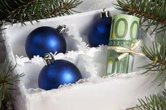 Geld für Weihnachten Lizenzfreie Stockfotografie