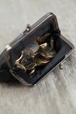 Geld, financiën Euro muntstukken stock afbeeldingen