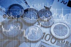 Geld, financieel concept, muntuitwisseling royalty-vrije stock foto's