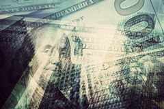 Geld, financiën, bedrijfsconcepten abstracte achtergrond Royalty-vrije Stock Afbeelding