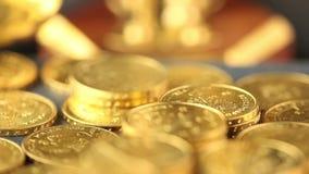 Geld, Finanzierung, prägt Hintergrund stock video footage