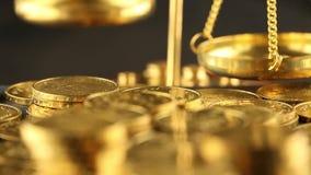 Geld, Finanzierung, prägt Hintergrund stock video