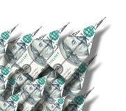 Geld-Flächen Stockfoto