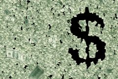Geld formt Dollarzeichen lizenzfreie abbildung