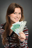 Geld-Frau Lizenzfreies Stockbild
