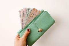 Geld-Geldbeutel Stockfotografie