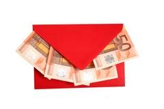 Geld - Geschenk Stockfotografie