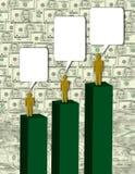Geld-Gespräche Stockfoto