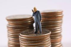 Geld-Gespräche lizenzfreie stockfotos