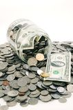 Geld-Glas Stockfoto