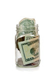 Geld in glaskruik Stock Afbeeldingen