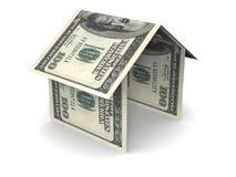 Geld-Haus lizenzfreies stockbild