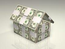 Geld - Haus Lizenzfreies Stockfoto