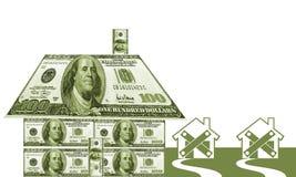 Geld-Haus Stockfotos