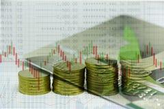 Geld, het concept van de voorraadindex Stock Afbeeldingen