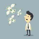 Geld het vliegen vector illustratie