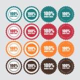 Geld-hintere goldene Aufkleber-Vektor-Illustration 100% Lizenzfreie Stockfotografie
