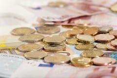 Geld-Hintergrund Stockfotos