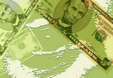 Geld-Hintergrund Stockfotografie