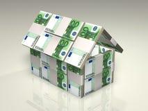 Geld - huis Royalty-vrije Stock Afbeeldingen