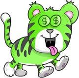 Geld hungriger Tiger Vector Lizenzfreies Stockfoto