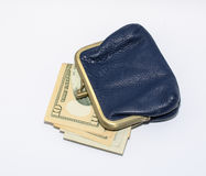 Geld in Ihrer Geldbörse Lizenzfreie Stockfotos