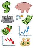 Geld-Ikonen Lizenzfreies Stockbild