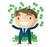 Geld im Büro stock abbildung
