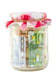 Geld im Glas Stockfotografie