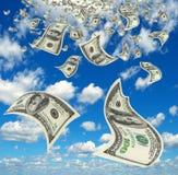 Geld im Himmel. Stockbild