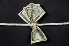 Geld im Knoten Stockfotos