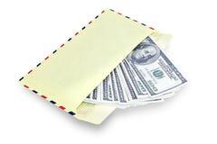 Geld im Umschlag lizenzfreies stockfoto
