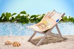 Geld im Urlaub Stockbild