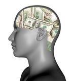 Geld im Verstand lizenzfreie abbildung