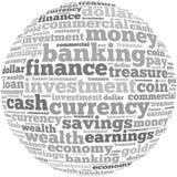 Geld informatie-tekst grafiek en regelingsconcept Stock Afbeeldingen