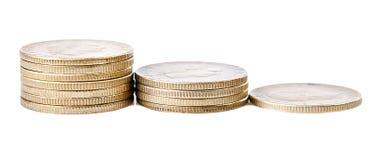 Geld isoleted auf einem weißen Hintergrund Lizenzfreie Stockfotos