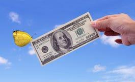 Geld ist der größte Anreiz Stockfotos