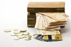 Geld ist der Schatz selbst Lizenzfreies Stockfoto